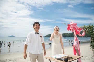 ウェディングレポート「糸島の海の家での結婚式」